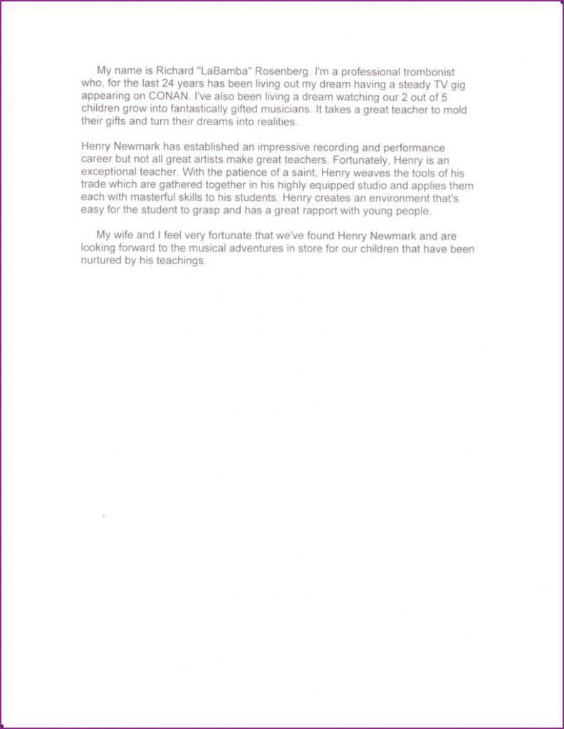 Richard Rosenberg letter page 2